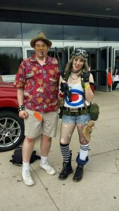 Here I am with my friend Rachel, outside the Comicon.  She and her boyfriend were awesome enough to drive me to the event, since I have no car.